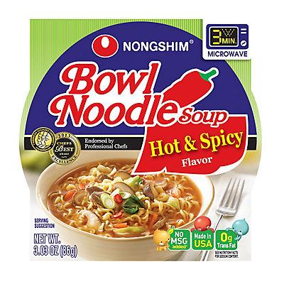 Nong Shim Hot & Spicy Bowl Noodle Soup, 12 pk./3.03 oz.