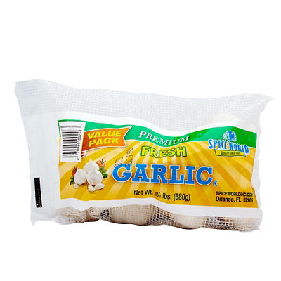 Spice World Premium Fresh Garlic Bag, 20 pk./24 oz.