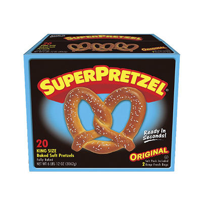 SuperPretzel King Size Baked Soft Pretzel, 20 ct./5 oz.