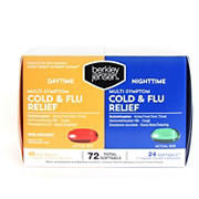 Berkley Jensen Day & Night Multi-Symptom Cold/Flu Relief, 72 ct.