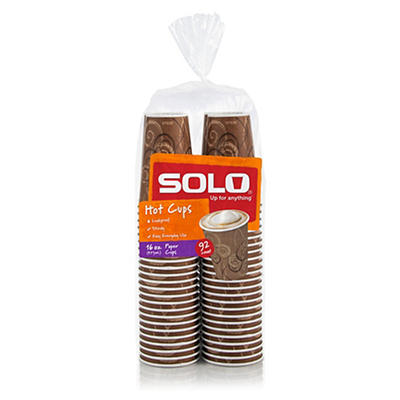 SOLO 16-Oz. Hot Cups, 92 ct.