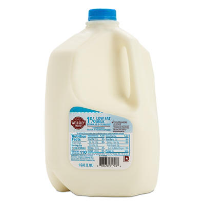 Wellsley Farms 1% Lowfat Milk, 1 gal.
