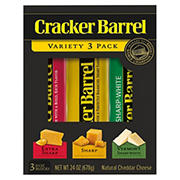 Cracker Barrel Cheddar Cheese Variety Pack, 3 pk./8 oz.