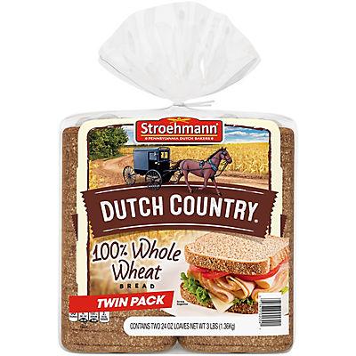 Stroehmann Dutch Country Wheat Bread, 2 pk./24 oz.