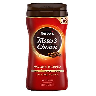 Nescafe Taster's Choice Regular Instant Coffee, 12 oz.