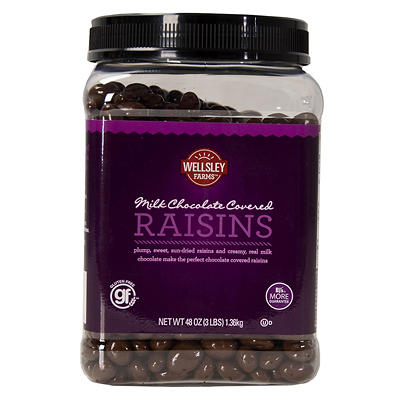 Lyndon Reede Milk Chocolate Covered Raisins, 48 oz.