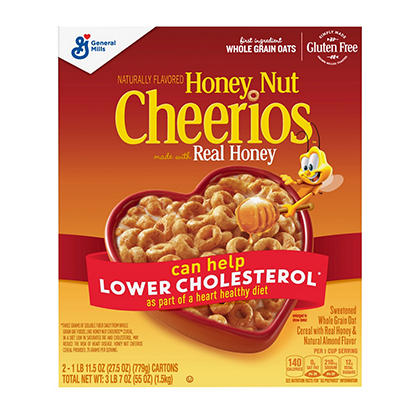 General Mills Honey Nut Cheerios, 55 oz.