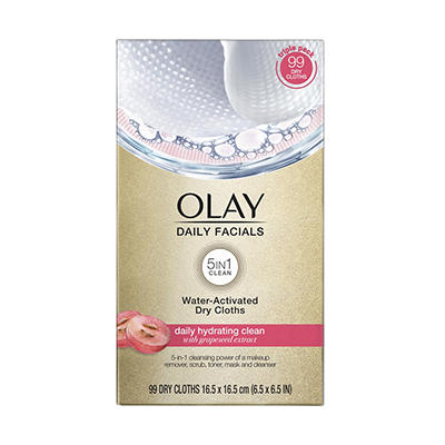 Olay 4-in-1 Daily Facial Cloths, Assorted Skin Types, 99 ct.