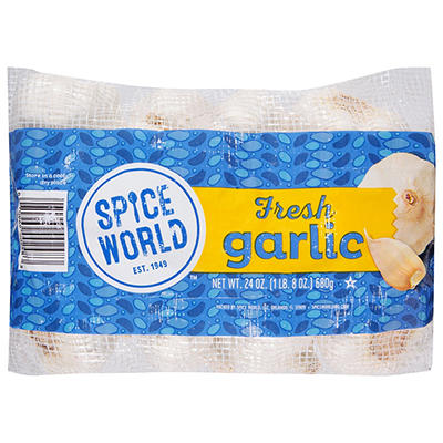 Spice World Peeled Garlic, 12 pk./1 lb.