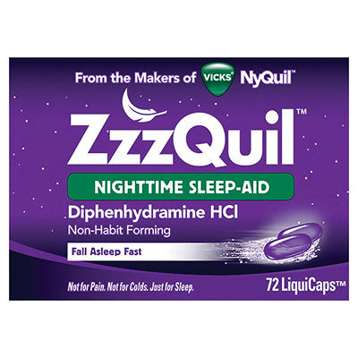 ZzzQuil Nighttime Sleep-Aid LiquiCaps, 72  ct.