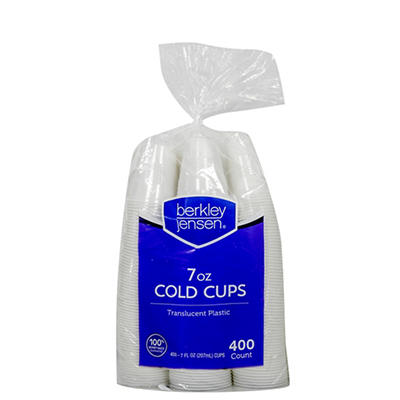 Berkley Jensen 7-Oz. Cups, 400 ct. - Translucent