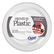 "Chinet 7"" Plastic Plates, 105 ct. - White"