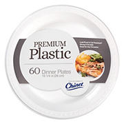 "Chinet 10"" Premium Plastic Dinner Plates, 60 ct. - White"
