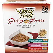 Purina Fancy Feast Gravy Lovers Poultry & Beef Feast Variety Cat Food, 36 pk./3 oz.