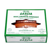 Garcia Beef Smoked Sausage, 1.75 lbs.