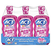 ACT Kids Bubblegum Blowout Anti-Cavity Rinse, 3 ct./16.9 oz.