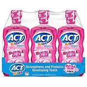 ACT Kids Bubblegum Blowout Anti-Cavity Rinse, 3 ct./16.9 oz.