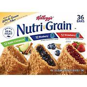 Kellogg's Nutri Grain Cereal Bars Variety Pack, 36 ct.