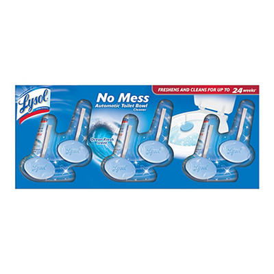 Lysol No Mess Automatic Toilet Bowl Cleaner, 6 pk.