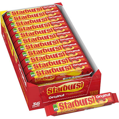 Starburst Original Fruit Chews, 2.07 oz. - 36 pk.