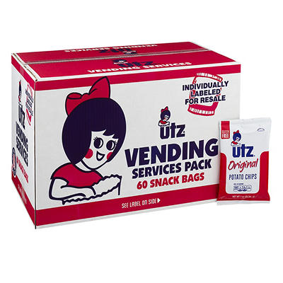 UTZ Potato Chips Snack Bags Vending Services Pack, 60 pk./1 oz.