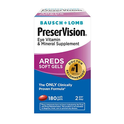Bausch & Lomb PreserVision Eye Vitamin & Mineral AREDS, 180 ct.