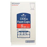 WinCup 8-Oz. Foam Cups, 1,000 ct. - White