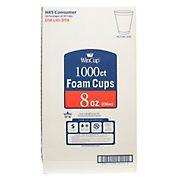 WinCup 8-Oz. Foam Cups, 1,000 ct. - White