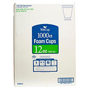 WinCup 12-Oz. Foam Cups, 1,000 ct. - White
