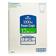 WinCup 12-Oz. Foam Cups, 1,000 ct. - White