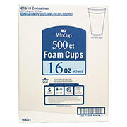 WinCup 16-Oz. Foam Cups, 500 ct. - White