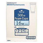 WinCup 16-Oz. Foam Cups, 500 ct. - White