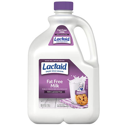 Lactaid Free Fat-Free Milk, 96 oz.