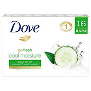 Dove go fresh Cool Moisture Beauty Bar, 16 ct./4 oz.