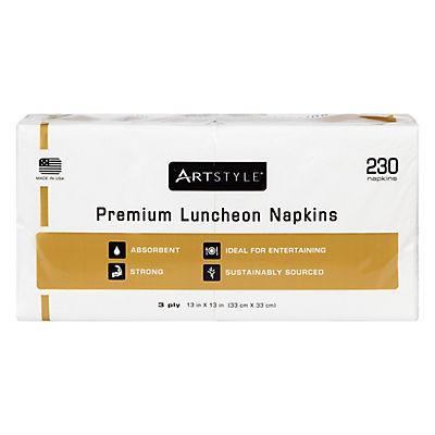"Artstyle 13"" x 13"" Napkins, 230 ct. - White"