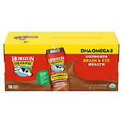 Horizon Organic DHA Omega-3 Chocolate Low-Fat Milk, 18 pk./8 oz.