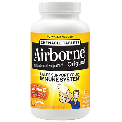 Airborne Immune Support Supplement Chewable Tablets, 116 ct.