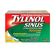 Tylenol Sinus Congestion and Pain Severe Caplets, 3 pk./24 ct.