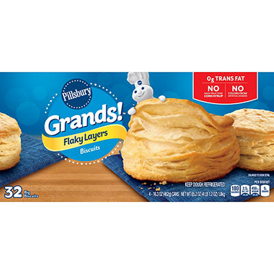 Pillsbury Grands Flaky Layers Butter Tastin' Biscuits, 4 pk./16.3 oz.