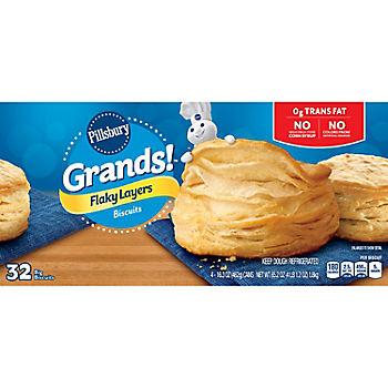 Pillsbury Grands Flaky Layers Butter Tastin Biscuits 4 Pk 16 3 Oz Bjs Wholesale Club