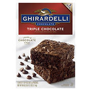 Ghirardelli Triple Chocolate Brownie Mix, 3 pk.