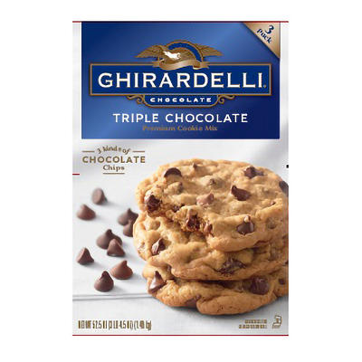 Ghirardelli Triple Chocolate Cookie Mix, 3 pk.
