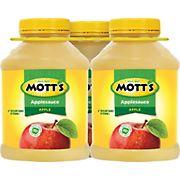 Mott's Apple Sauce, 3 pk./48 oz.