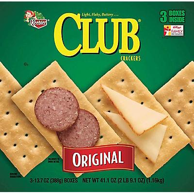 Keebler Club Original Crackers, 3 pk./41.1 oz.