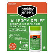 Berkley Jensen Allergy Relief 10mg Cetirizine Hydrochloride Tablets, 365 ct.