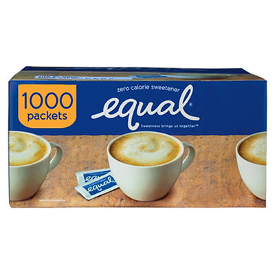 Equal 0 Calorie Sweetener, 1,000 ct./3 oz.