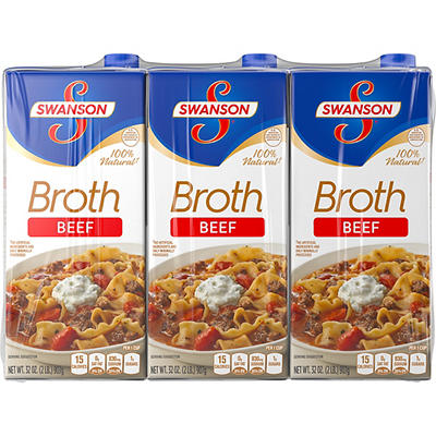 Swanson Beef Broth, 3 pk./32 oz.