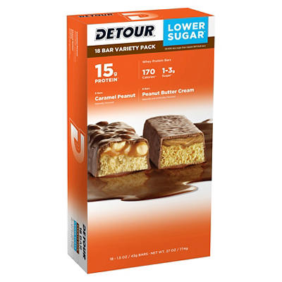 Detour Peanut Lover's Protein Bars, 18 ct.