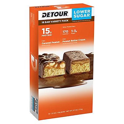 Detour Peanut Lover's Protein Bars, 18 ct.