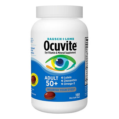 Bausch & Lomb Ocuvite Adult 50+ Eye Vitamin & Mineral Supplement, 150
